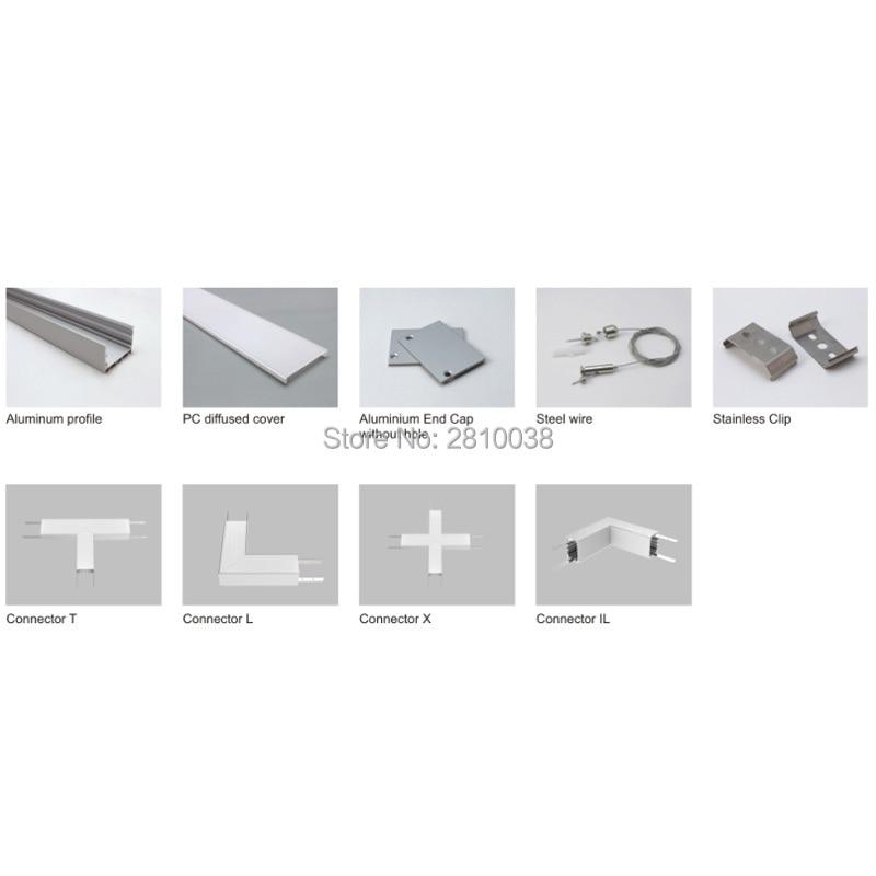 Conjuntos 30X2 mLot led strip perfil de
