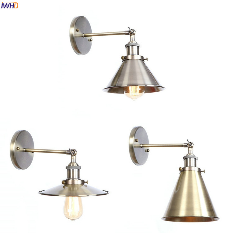 купить IWHD Brass Rustic Vintage LED Wall Lamps Living Room Edison Loft Industrial LED Wall Light Sconce Wandlampen Home Lighting по цене 1887.61 рублей