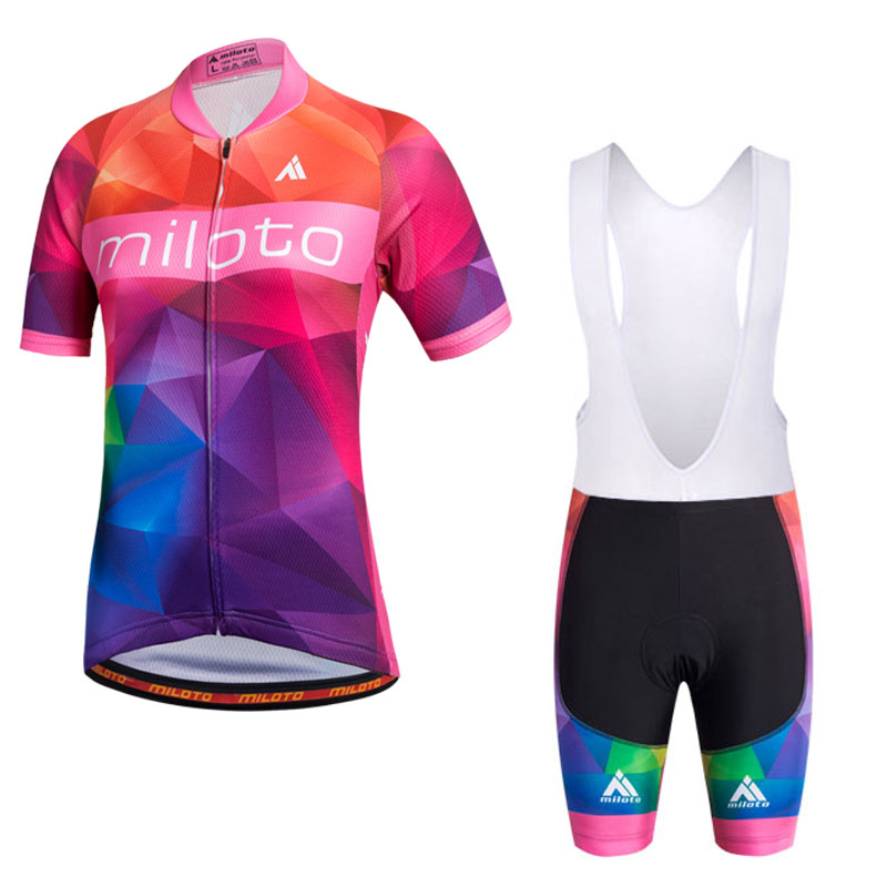 MILOTO Ropa Ciclismo Women's Cycling Jersey Summer Short Sleeve Bicycle Cycling Clothing Roupa De Ciclismo MTB Bike Jersey Sets fastcute cycling jersey sets ropa de ciclismo short sleeve road bicycle jersey gel padded mountain bike clothing mtb cycle set