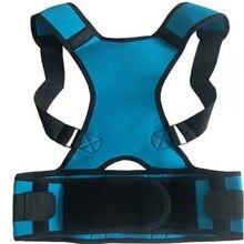 Adjustable Back Brace Posture Corrector Back Support Shoulder Belt Men Women Black Blue Size S/M/L/XL/XXL shoulder magnetic support brace protector black size l