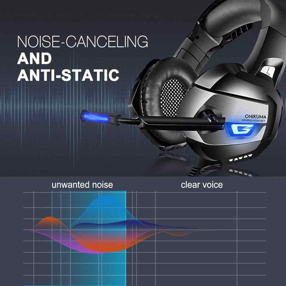 سماعة رأس ستيريو للألعاب ل PS4 Xbox One PC بلاي ستيشن 7.1 الصوت المحيطي سماعة سلكية إلغاء الضوضاء الصفر ضغط سماعة