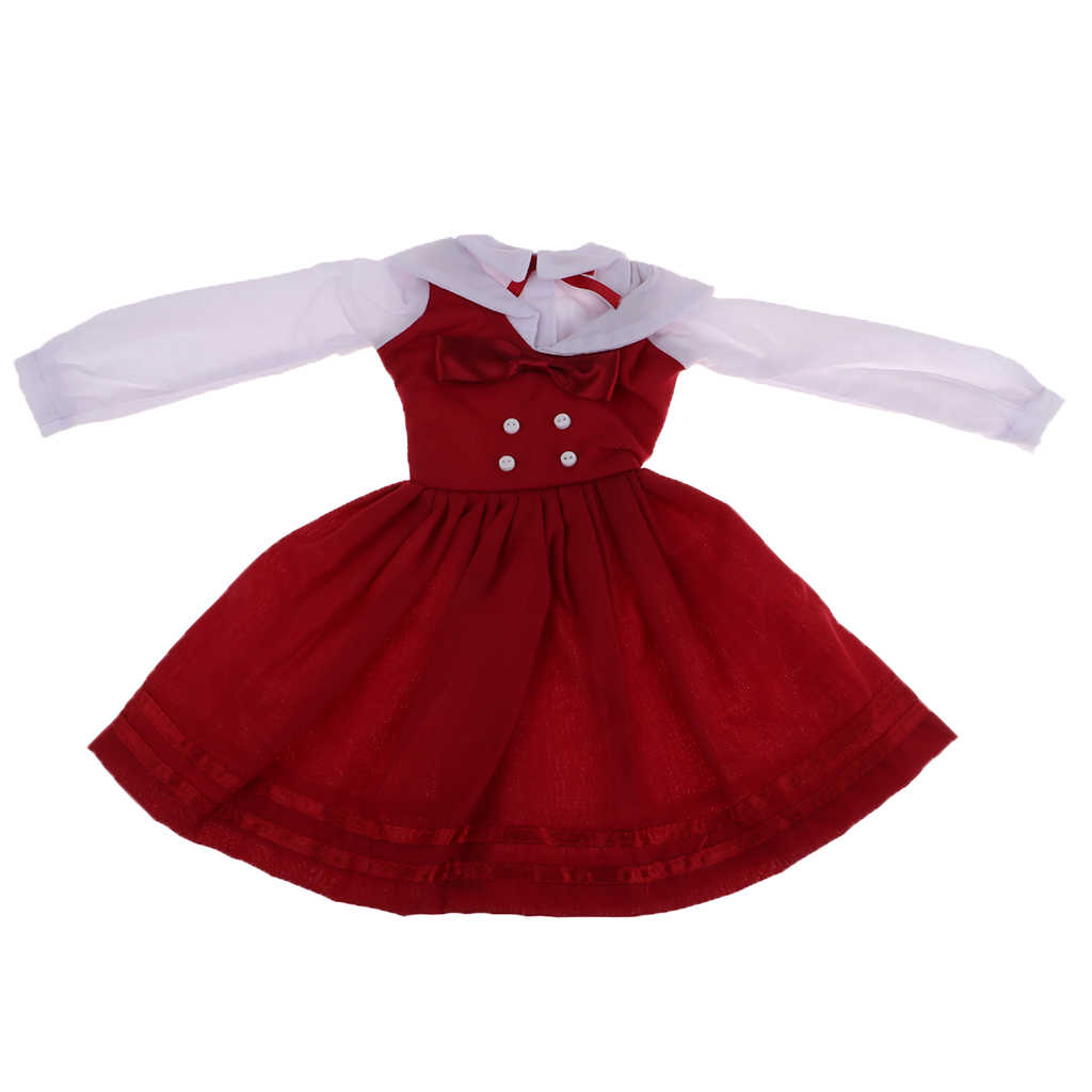 Doll Wine Red Bowknot Dress Skirt Party Outfit for Night Lolita DOD 1//3 BJD