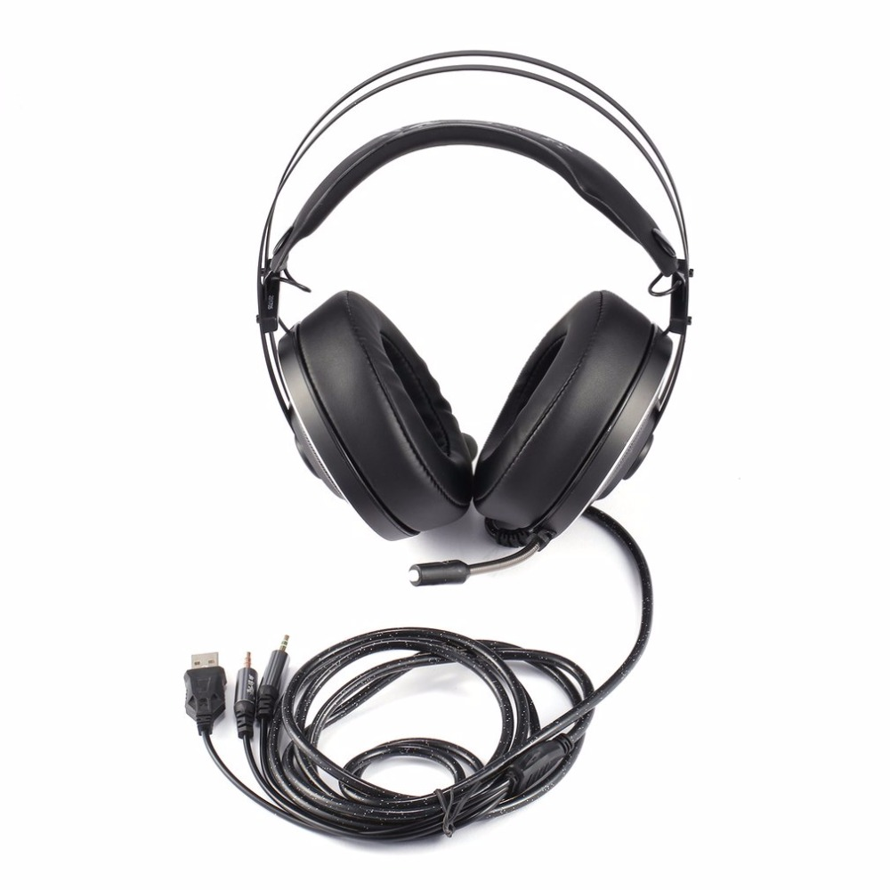Wired Game Headset Deep Bass Gaming Headphones with Microphone Over-Ear Headband Earphone with Light for Computer PC Gamer high quality gaming headset with microphone stereo super bass headphones for gamer pc computer over head cool wire headphone