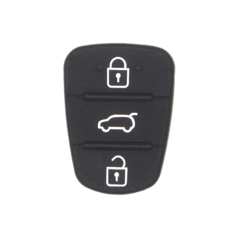 WhatsKey 3 Button Remote Key Fob Case Silicon Rubber Pad For Hyundai I10 I20 I30 IX35 for Kia K2 K5 Rio Sportage Flip Key maizhi 3 button flip folding car key shell for hyundai avante i30 ix35 kia k2 k5 sorento sportage key cover case styling