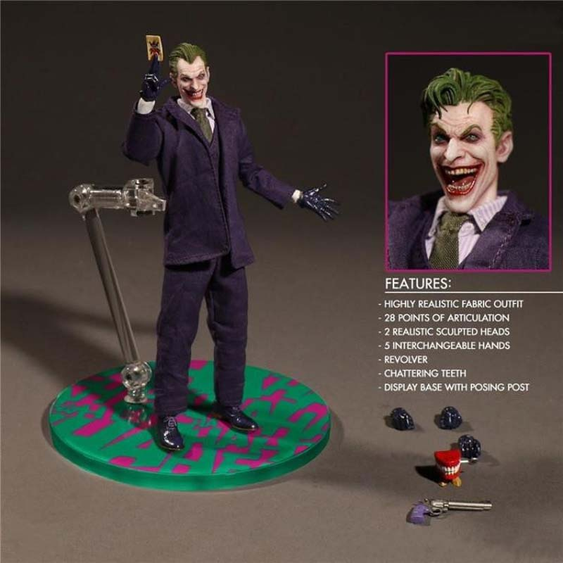 Free Shipping 6 DC Bad Hero the Joker Comic Real Cloth Ver. Boxed 15cm PVC Action Figure Collection Model Doll Toys Gift free shipping 10 pa kai dc hero jla superman super man boxed 26cm pvc action figure collection model doll toy gift