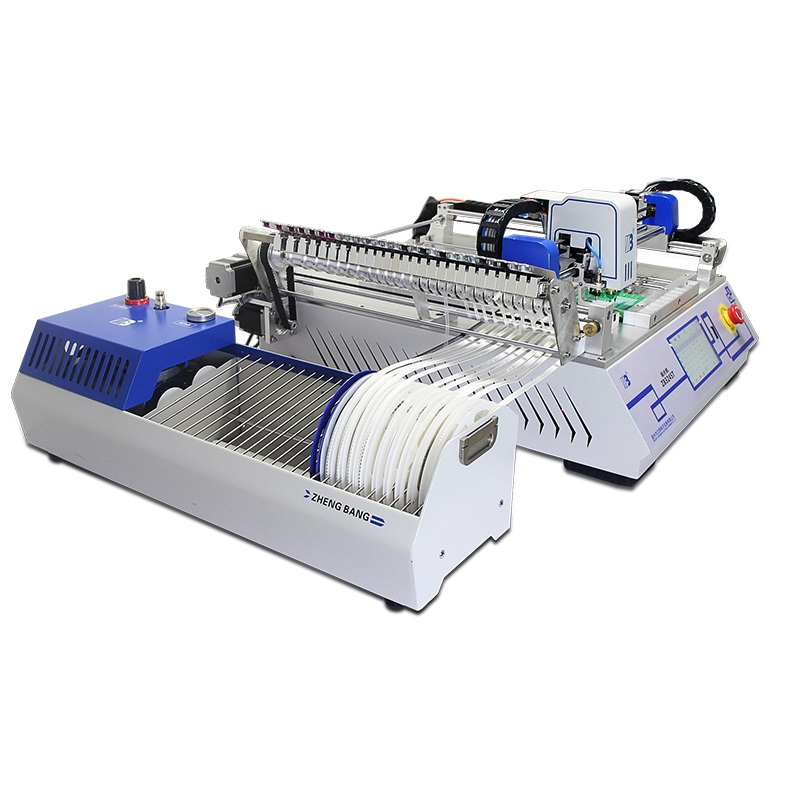 Desktop SMT pick and place machine 2 heads ZB3245T for assembly line
