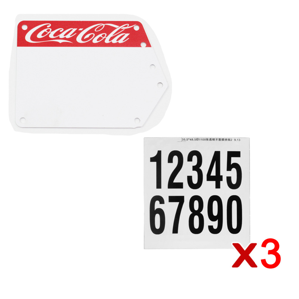 Custom Racing Bicycle Number Plate with Decals Sticker Flags Vittel Numbers  DIY Custom Bike Accessories
