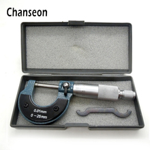 Wholesale prices Chanseon Measuring Tools Outside Micrometer 0-25mm/0.01mm Stainless Steel Gauge Vernier Caliper