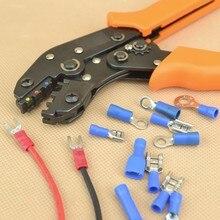 Изолированные клеммы обжимные плоскогубцы Емкость 0,25-мм2 обжимной инструмент AWG22-14 обжимной maxtrix прессформы