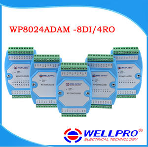 Image 1 - WP8024ADAM ( 8DI / 4RO )  Digital input and Relay output modules / Optocoupler isolated / RS485 MODBUS RTU communications