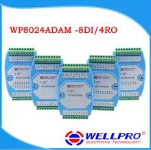 WP8024ADAM (8DI/4RO) デジタル入力とリレー出力モジュール/フォトカプラ絶縁/RS485 MODBUS RTU 通信
