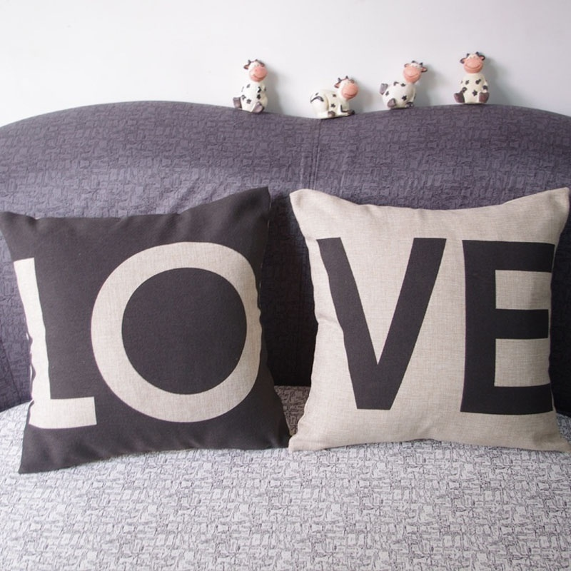His and hers side pillow case love pillowcase decorative for Decorative bed covers