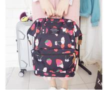 Harajuku Backpack Girl Cute Cartoon Style Kawaii Strawberry Rabbit Leisure School Bag Q015