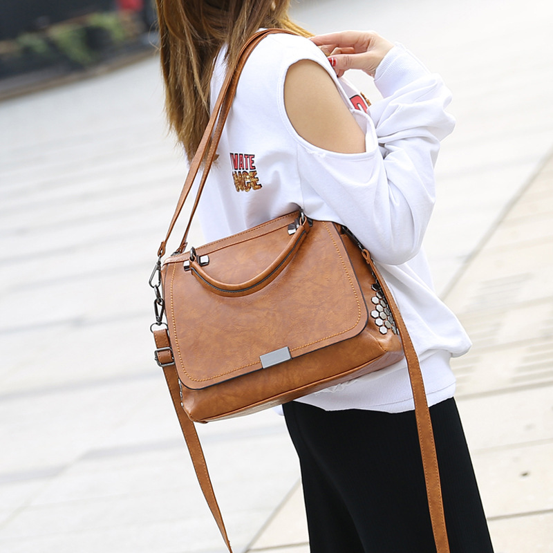 Women Bags High Quality PU Leather Boston Handbags Fashion Ladies Crossbody Messenger Bags Vintage Luxury Famous Brands Totes
