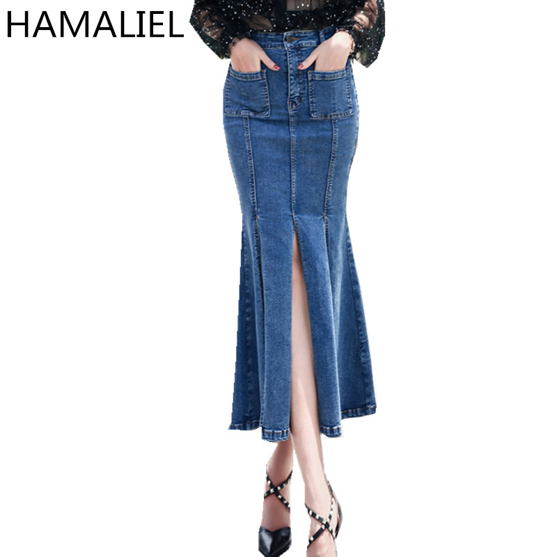 Compare Prices on Denim Pencil Skirt Long- Online Shopping/Buy Low ...