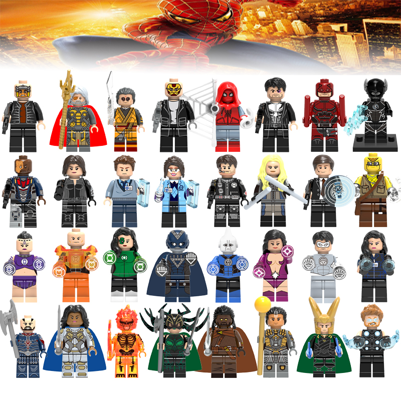Legoelys Justice League Figures Wonder Woman Aquaman Superman Batman Marvel Avengers Super Heroes Building Blocks Toys