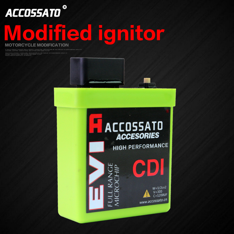 The motorcycle scooter JOG100 RS100 RSZ100 / GTR125 ii/o 3-9 segment adjustable igniter with voltmeter CDI