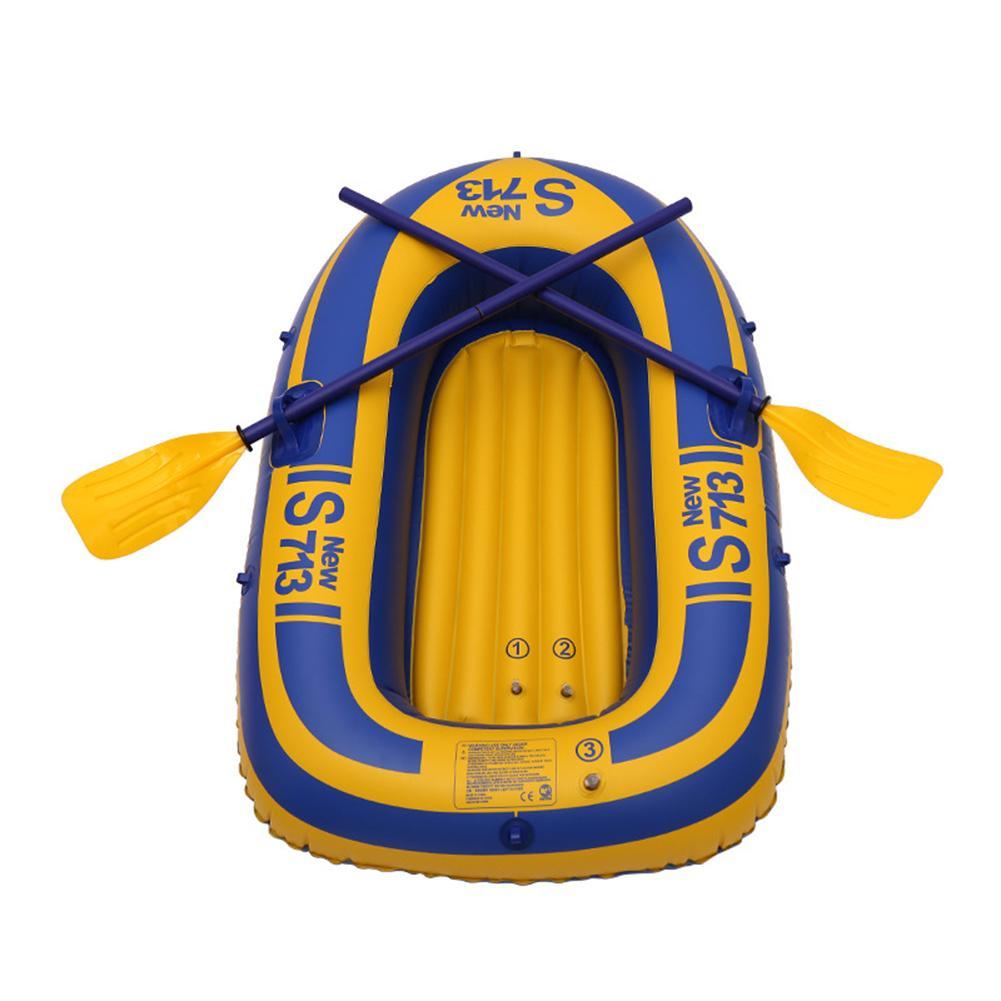 Sports nautiques 30 fils épais bateaux gonflables dériveur charge maximale 80 KG simple PVC Film matériel bateau gonflable kayak