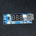 DC DC Passo Para Baixo Conversor Voltímetro Display LED + 5 V USB Porta carregador Placa do Módulo de Alimentação Step-down Fanfarrão 6.5-40 V Para 5 V 2A