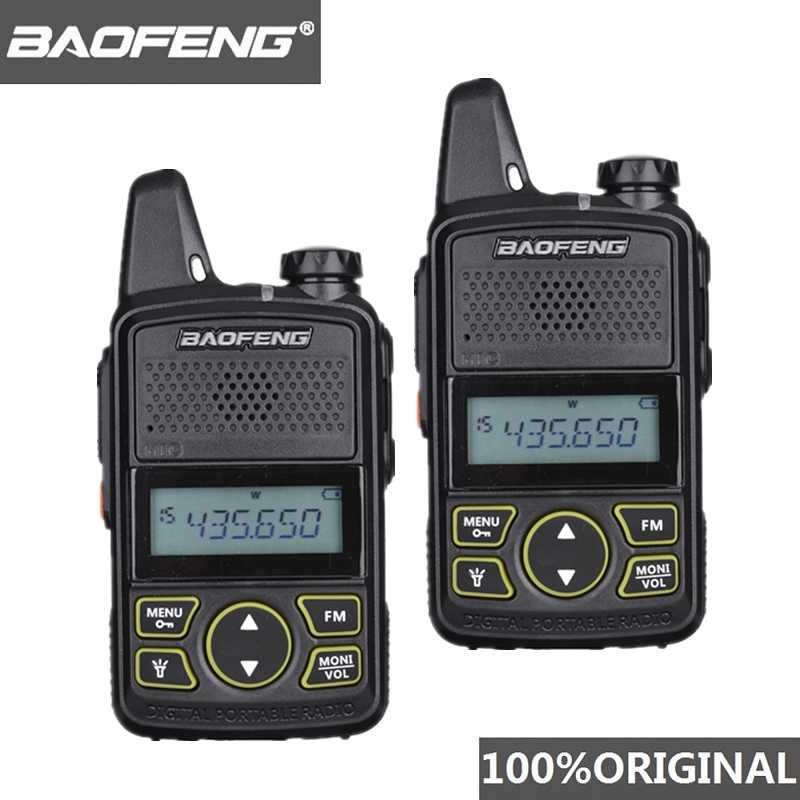 2 шт. Baofeng BF-T1 мини Детская рация UHF Портативный двухстороннее радио FM Функция Ham Радио Baofeng T1 USB Ребенка коротковолновым приемником
