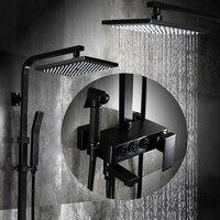 미국 스타일의 블랙 샤워 목욕 화장실 골동품 정장 모든 구리