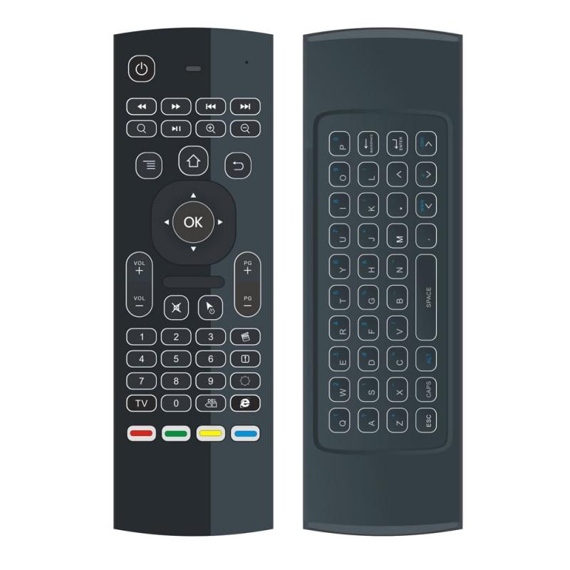 MX3-L hintergrundbeleuchtung Luft Fliegen Maus Fernbedienung 2,4G RF drahtlose Tastatur Für KM8...