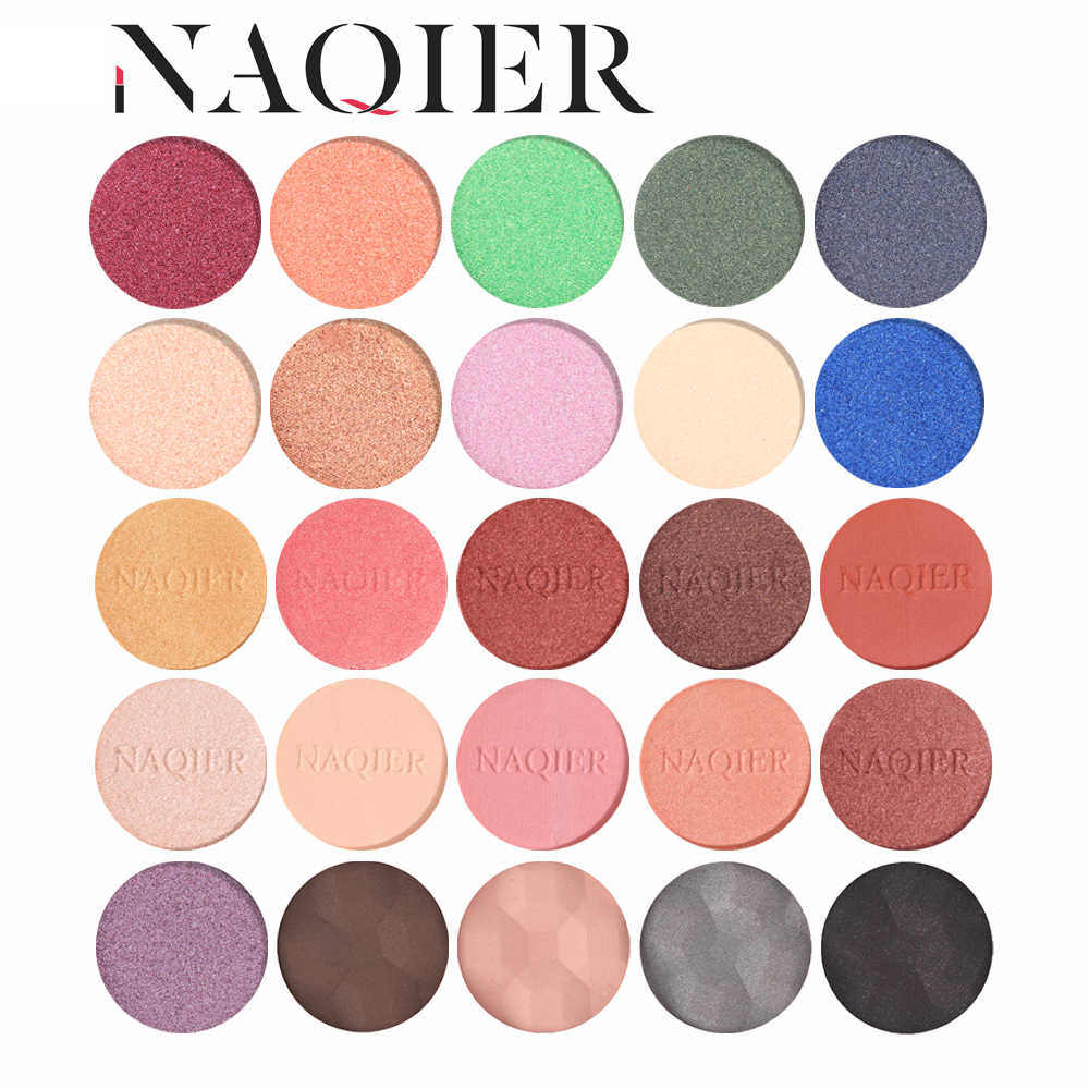 Naqier Eyeshadow Makeup Single Eye Shadow Diy Custom Warna Matte Mineral Eyeshadow Palet Glitter Bayangan Pallet
