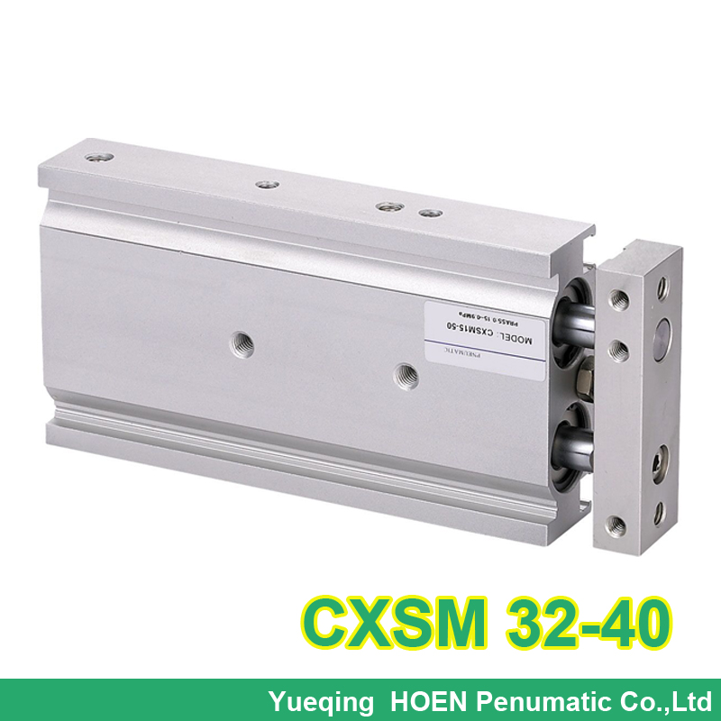CXSM32-40 High quality double acting dual rod piston air pneumatic cylinder CXSM 32-40 32mm bore 40mm stroke with slide bearing конструкторы mega bloks губка боб игровой набор