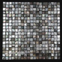 100 Blacklip Sea Shell Natural Black Color Mother Of Pearl Mosaic Tile For Interior House Decoration