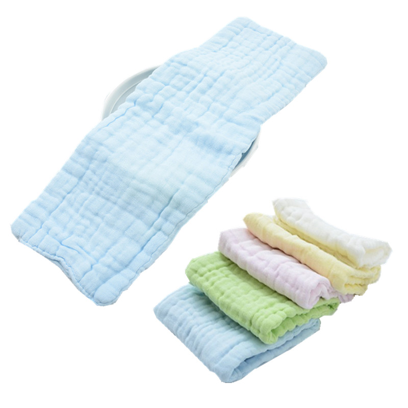 купить 5pcs/lot 12 layers Natural Cotton Gauze Baby Nappies Liner Inserts For Baby Reusable Diaper Washable Cloth diaper Nappy Changing по цене 542.62 рублей