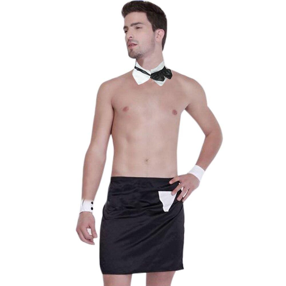 Agressief Exotische Set Mannen Nieuwigheid Sexy Mannen Ober Kostuum Cosplay Sexy Lingerie Schort D90412 We Hebben Lof Van Klanten Verdiend