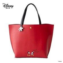 Disney bolsa de ombro do mickey mouse, feminina, de desenho animado, sacola de mão, grande capacidade