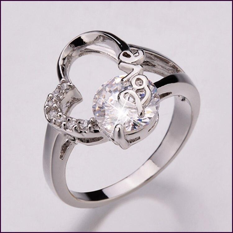 SI Valentine\'s Day Gift Swiss CZ Fashionable LOVE Heart 18K Gold ...