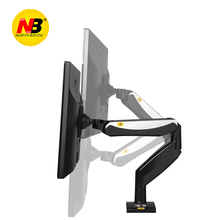 NB F85A Desktop Mechanical Spring Full Motion 22-32 inch Monitor Holder Mount Arm with Two USB Ports Bracket Loading 2-8kgs