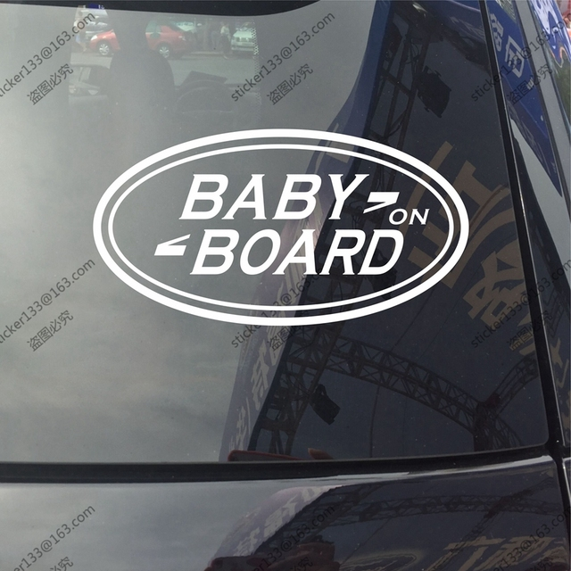 Baby on board baby in car truck vinyl decal sticker fit for land rover range discovery