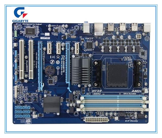 Gigabyte ban đầu Bo mạch chủ Gigaby GA-970A-DS3 DDR3 Ổ Cắm AM3 + 970A-DS3 USB3.0 32 GB Để Bàn Bo mạch chủ Miễn Phí vận chuyển