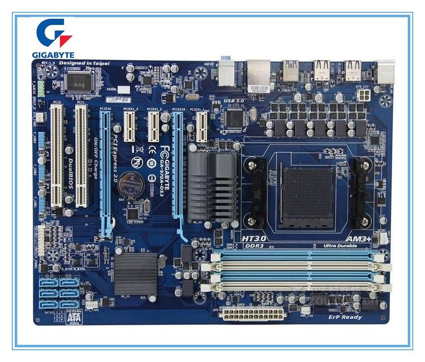Gigabyte carte mère originale GA-970A-DS3 DDR3 Socket AM3 + 970A-DS3 USB 3.0 32 GB Bureau carte mère Conseils Livraison gratuite