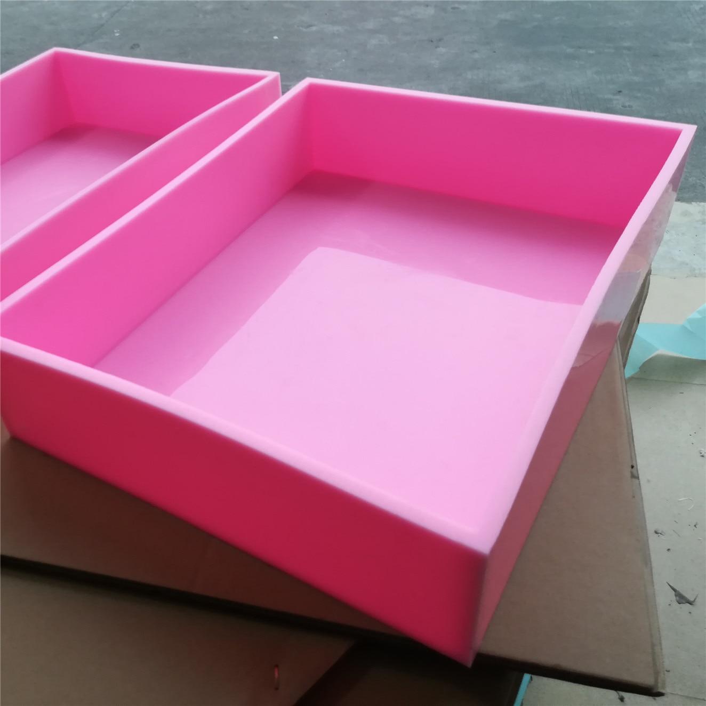 Taille 40.2*30.1*12 cm Silicone dalle moule Silicone liner savon moule pour la fabrication de savon de procédé à froid-in Savon Moules from Maison & Animalerie    1