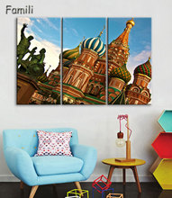 HD Printed moscow russia kremlin city Painting Canvas Print room decor print poster picture canvas Free shipping,oil painting