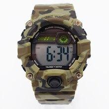 Hommes étanche poignet numérique automatique montres pour homme digitais vert montre de course hommes horloge militaire tactique en plein air mode