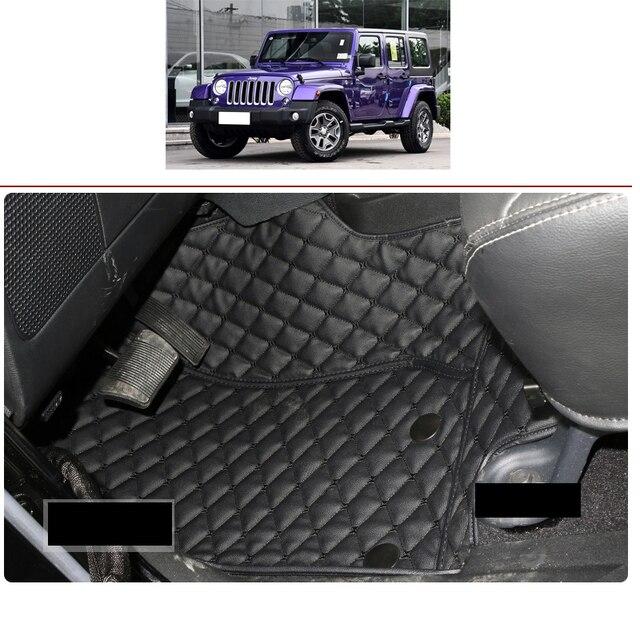 lsrtw2017 fiber leather car interior floor mat for jeep wrangler 2011 2012 2013 2014 2015 2016 2017 2018 2018 jk