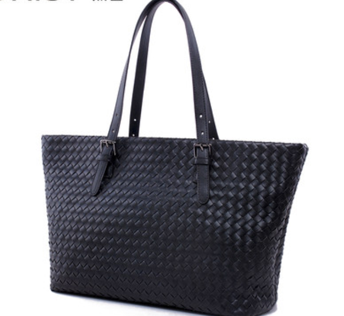 ФОТО size 39cm * 30cm *21cm Fashion women woven shoulder bags/ outside & inside real leather /purple, black, blue, rose red, apricot