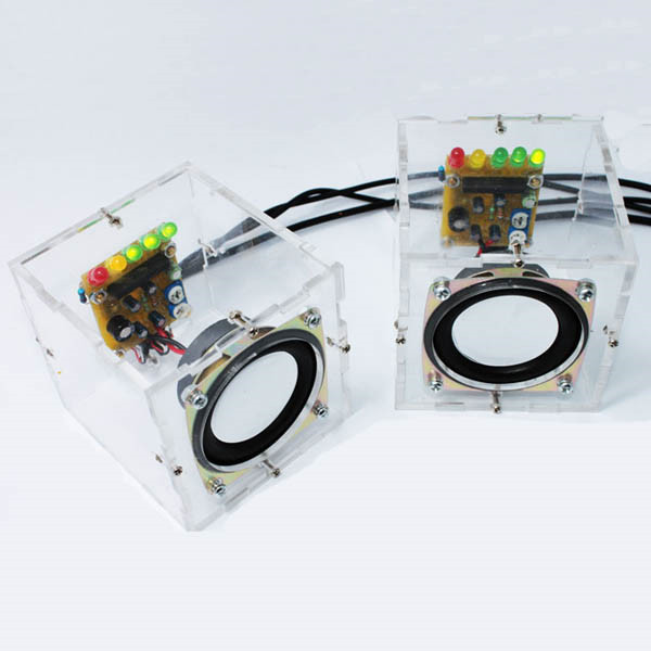 LEORY Individuality Mini Speakers Computer Small Transparent Speaker DIY Production For Gift