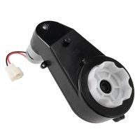 UXCELL 550 Gear Box Motor DC 6V 14000RPM Electric Ride on Car Gearbox with Motor Black Hot Sale