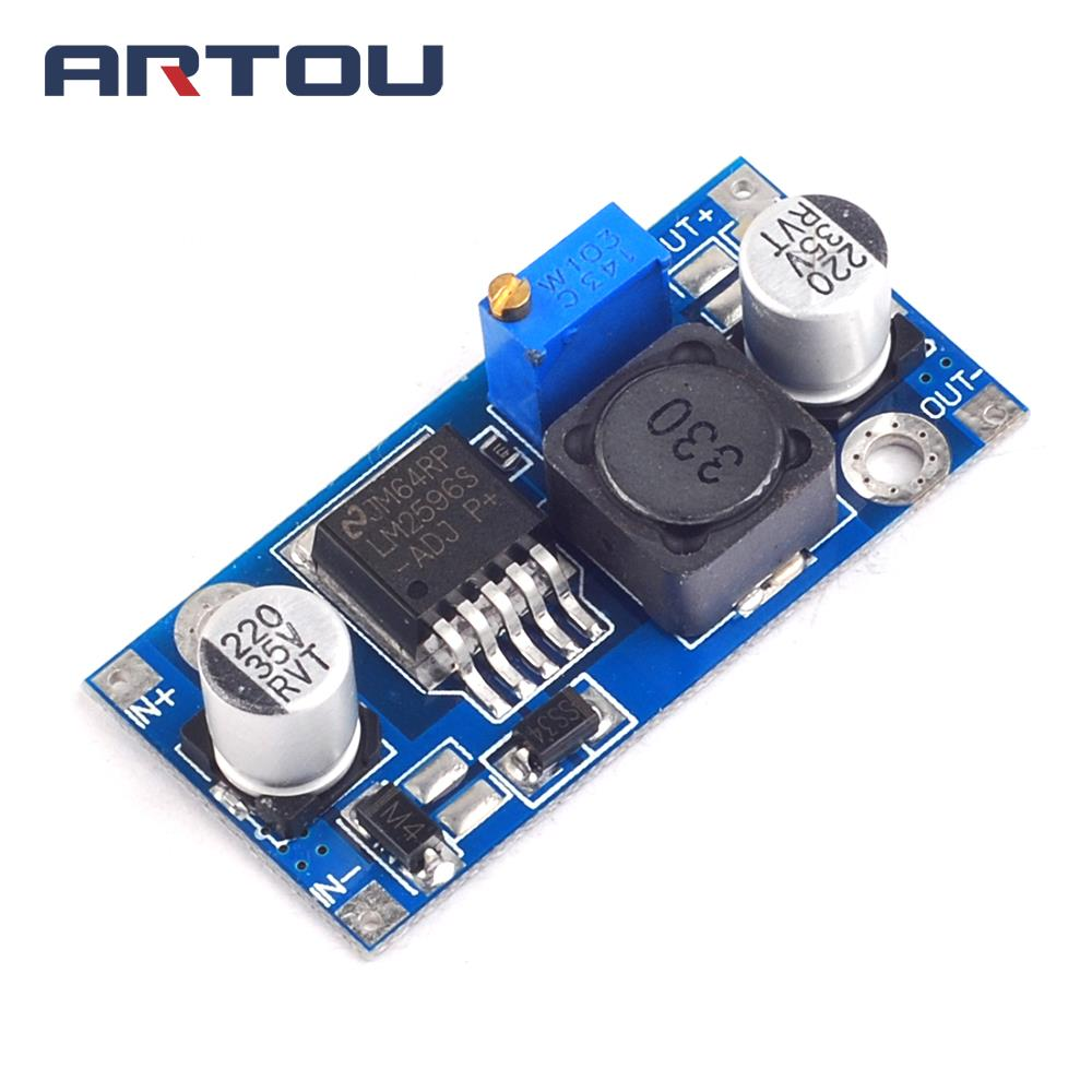 1pcs Dc Adjustable Step Down Module Low Ripple High Efficiency Lm358 100 Gain Signal Amplification Operational Amplifier Dc5 Buck Lm2596 Power Car Supply