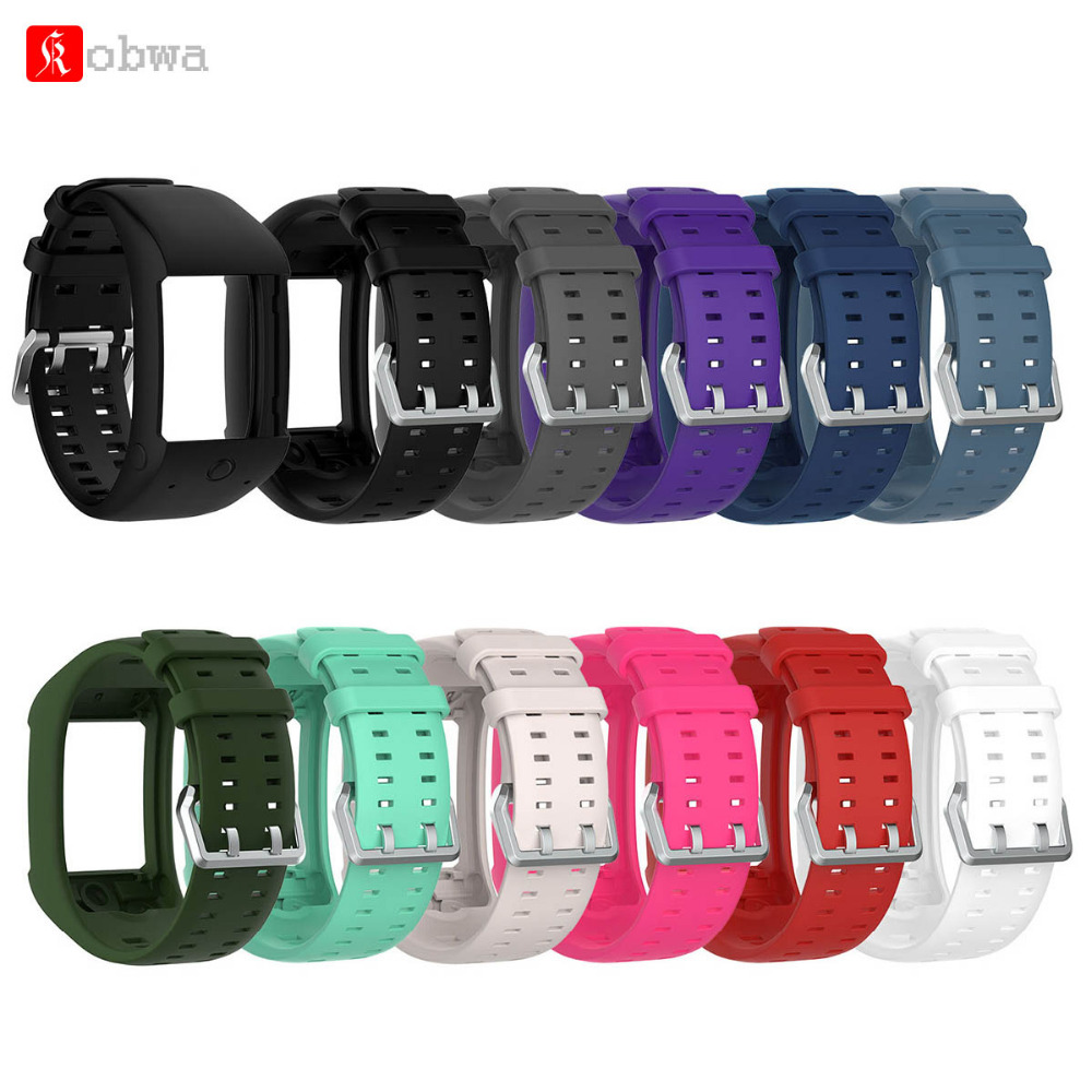 Kobwa 11 Colors Silicone Replacement Watch Band Wrist Strap For Polar M600 Smart Watch High Quality Soft Comfortable