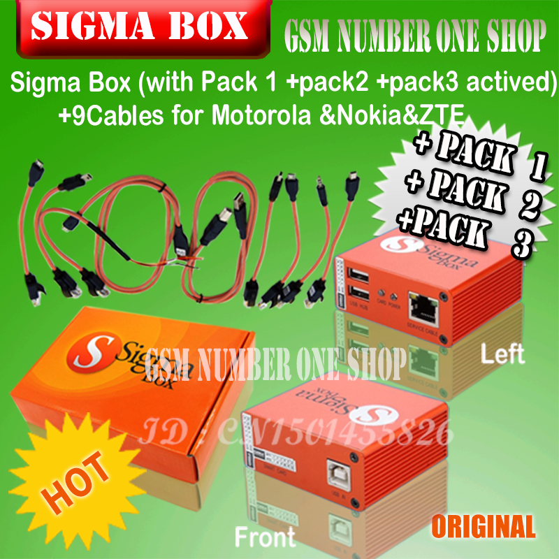 2~4 Weeks] 2018 The Newest 100% Original Sigma box + Pack1+ Pack2