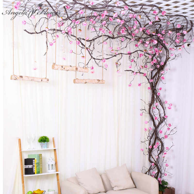 3M artificial flower vine peony tree vine indoor wall ... on Wall Sconces For Greenery Decoration id=22289