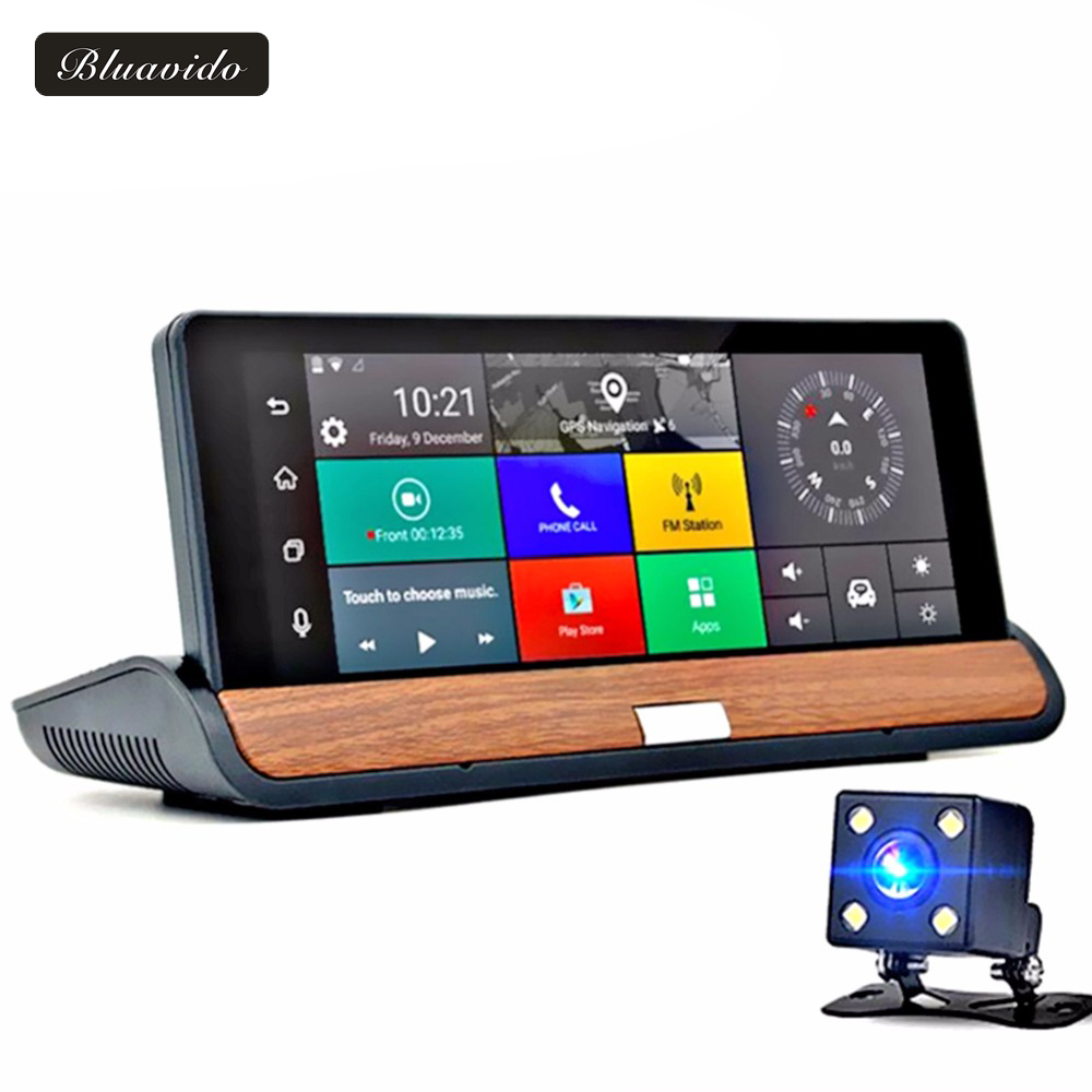 Bluavido 6.86 3G Car DVR Full HD 1080P Video Camera Recorder Android GPS Navigator Free map Bluetooth WIFI automovi registrator pvt 898 5g 2 4g car wifi display dongle receiver airplay mirroring miracast dlna airsharing full hd 1080p hdmi tv sticks 3251