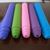TPE Yoga Mat For Beginners Anti Slip sport mat non slip fitness mat with yoga rope gym mat 183*61cm*6mm
